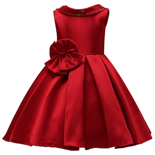 Winter Lace Flower Girl Dress Gown Birthday Outfits Wedding Dresses Kids Party Wear
