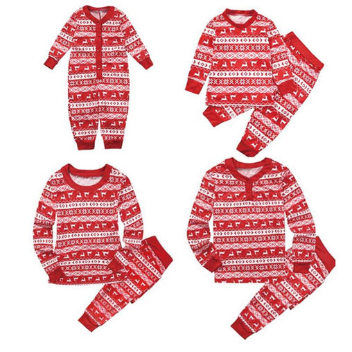 Winter Family Matching Christmas Pajamas Set Dad Mom Kids Baby Sleepwear Outfits