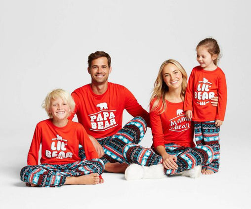 Family Christmas Pajamas New Year Matching Pajamas Outfits Family Matching Clothes