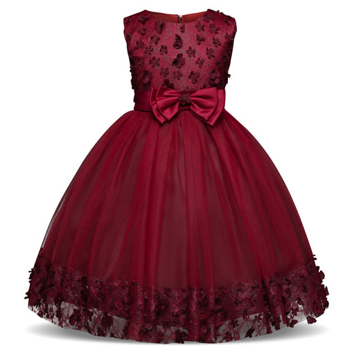 Cute Flower Girls Dresses Toddler Elegant Petals Formal Party Dress