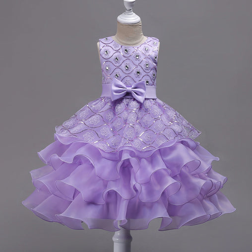 Baby Flower Girl Dresses Bowknot Wedding Party Gown Tutu Princess Dress Birthday