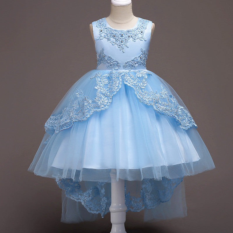 1d3a5599a79 Kids Formal Flower Girl Dresses Pageant Birthday Party Wedding Ball Gown  Princess Girl