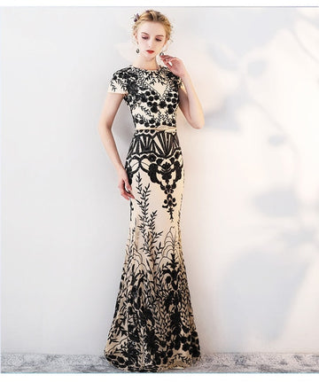 Elegant Mermaid Long Prom Party Gowns Evening Dresses