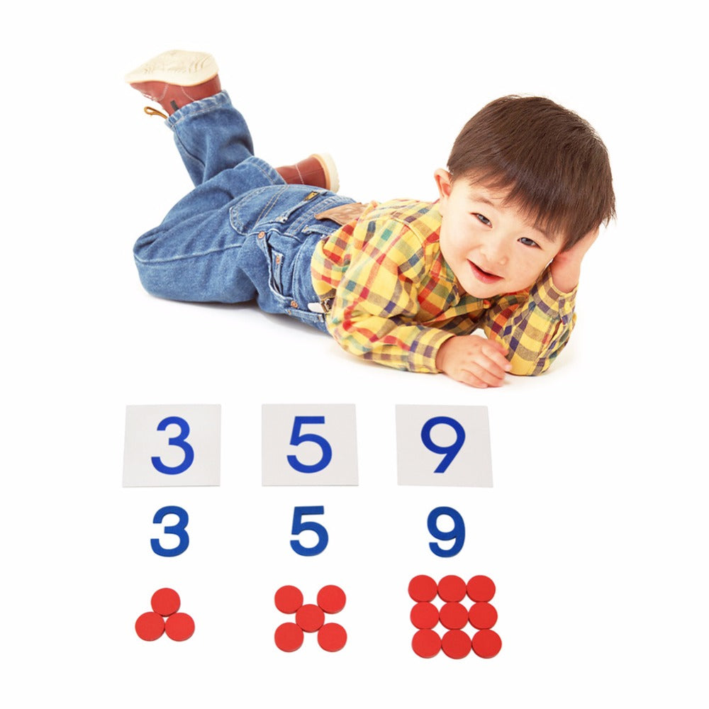Wooden Montessori Math Buttons and Cards – mamahome | Your Essential ...