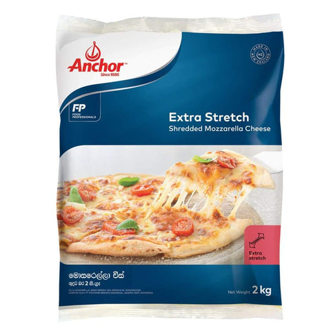 Anchor Extra Stretch Shredded Mozzarella Cheese 6x2kg - LimSiangHuat