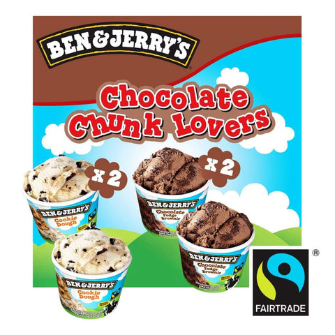 Ben & Jerrys Chocolate Chunk Lovers Multipack 6X(4X120ml) - LimSiangHuat