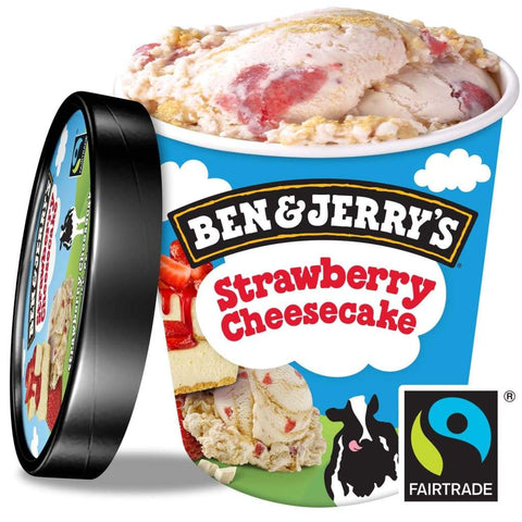 Ben & Jerrys Strawberry Cheese Cake  8x458ml - LimSiangHuat