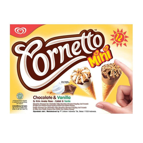 Cornetto Mini Chocolate and Vanilla  6x12x28ml - LimSiangHuat