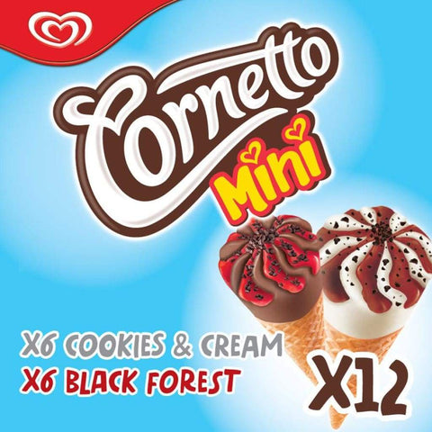 Cornetto Mini Cookies & Cream and Blackforest  6x12x28ml - LimSiangHuat