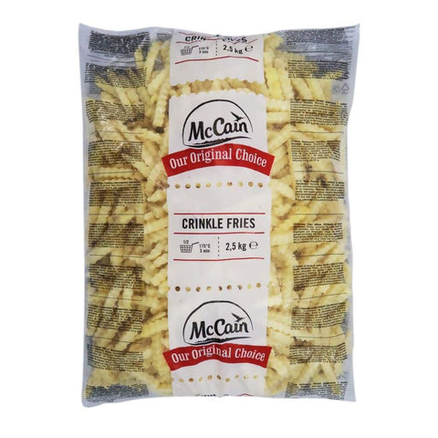 Crinkle Cut Fries McCain [1957] 2.5kg - LimSiangHuat