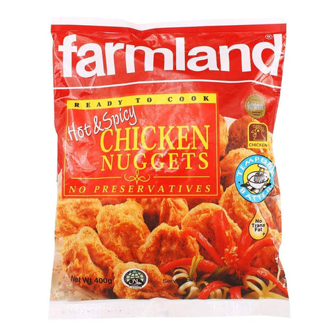 Farmland Chicken Nuggets Hot & Spicy 24x400g - LimSiangHuat