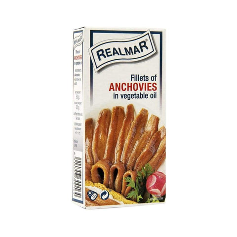 Fillets of Anchovies in Vegetable Oil -Realmar/Roland 100x50g - LimSiangHuat