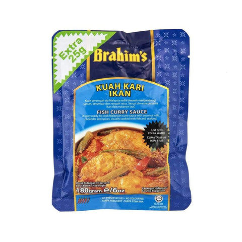 Fish Curry Sauce Brahim's 180gm - LimSiangHuat