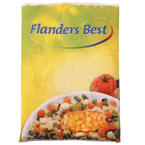 Frozen Diced Pumpkin Flanders Best 4X2.5Kg Vegetables & Fruits