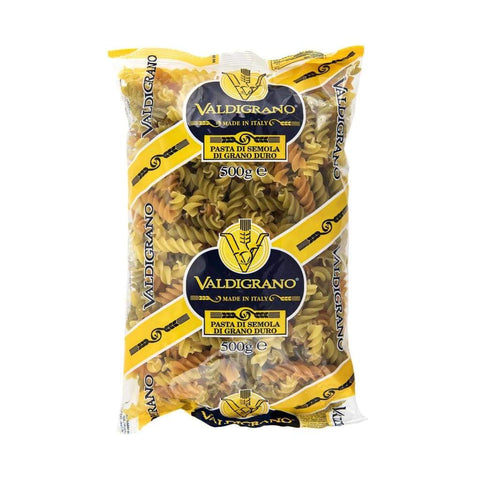 Fusilli Tri Color Fto 160 Valdigrano 500Gm Pasta