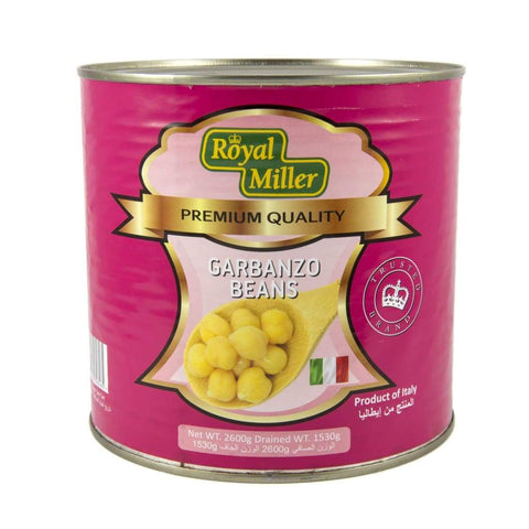 Garbanzo Beans Royal Miller 6X2.6Kg Canned Vegetable