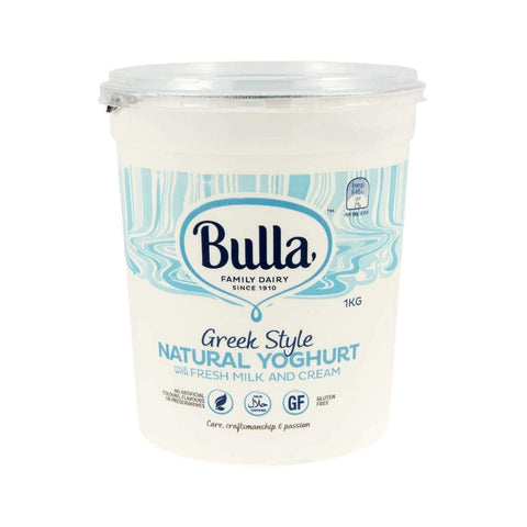 Greek Style Natural Yoghurt Bulla 1Kg Dairy
