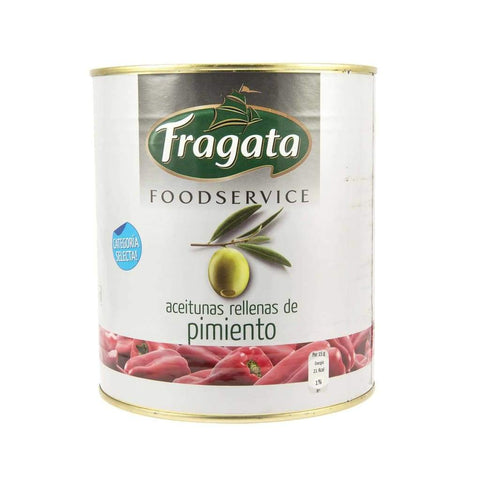 Green Stuffed Olive W/pimiento - Fragata 6X3Kg Pickles