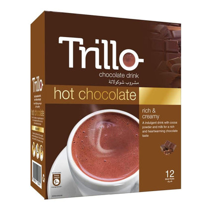 Hot Chocolate Trillo 12X(12Sx25G) Choco & Nutritional Drinks