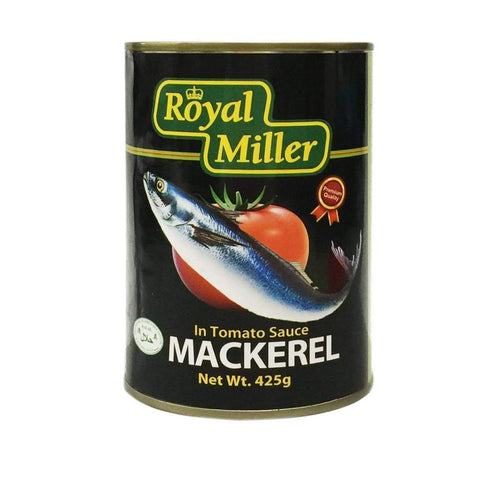 Mackerel In Tomato Sauce Royal Miller 425G Canned Meat/seafood