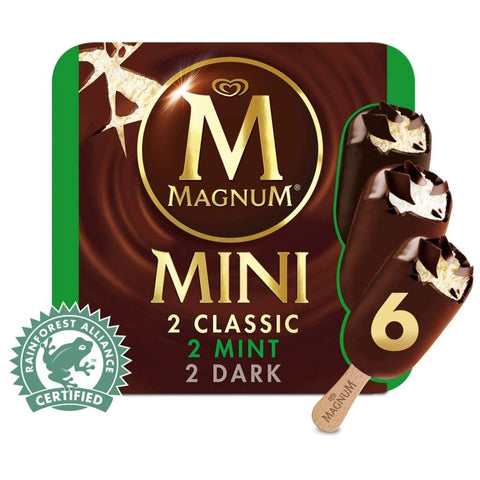 Magnum Mini Classic Dark Mint Multipack 6X(6X60Ml) Ice Cream