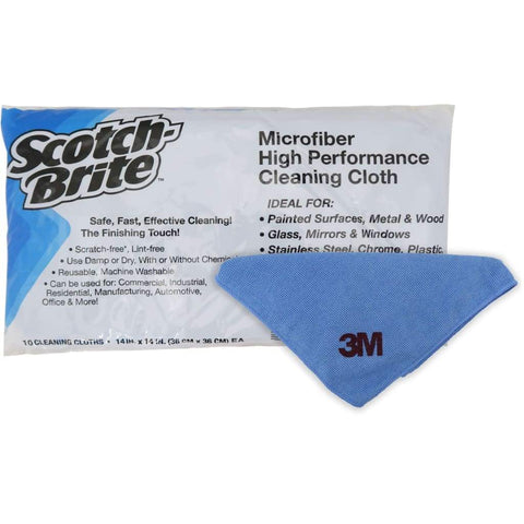 Microfiber High Performance Cleaning Cloth Blue 3M (36Cmx36Cm) 5X10S Non-Food