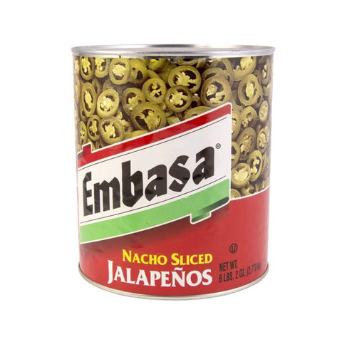 Nacho Sliced Jalapeno Pepper Embasa 2.83Kg Sauce