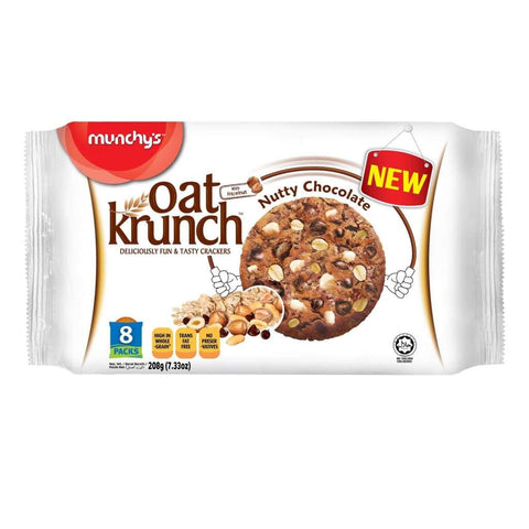 Nutty Chocolate 12X208G Oat Krunch Biscuits