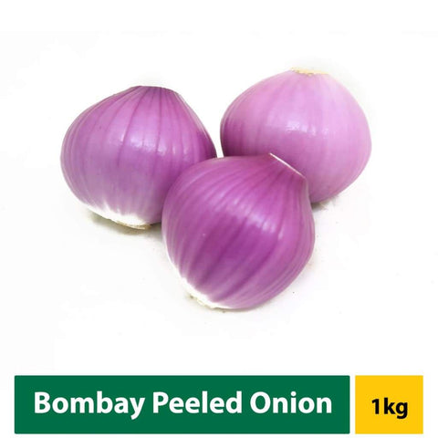 Onion Bombay Peeled 1Kg Fresh Vegetable