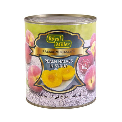 Peach Halves Royal Miller (12X820G) Canned Fruits