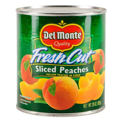 Peach Sliced Del Monte (12X825G) Canned Fruits