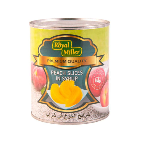 Peach Sliced In Syrup Royal Miller (24X825G) Canned Fruits