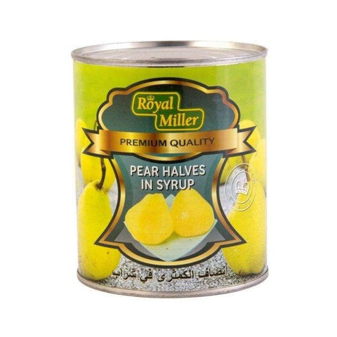 Pear 1/2 In Syrup Royal Miller (24X825G) Canned Fruits