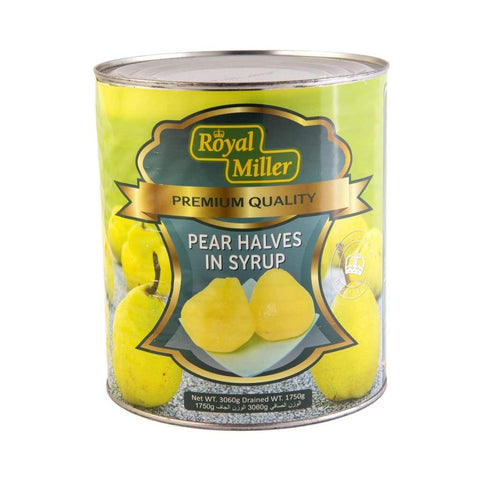 Pear 1/2 In Syrup Royal Miller (6X3.06Kg) Canned Fruits