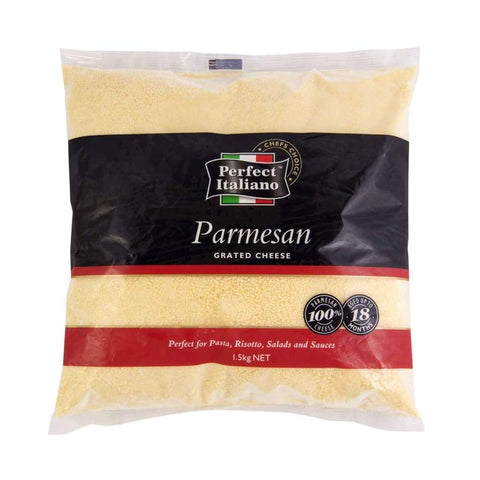 Perfect Italiano Parmesan Grated Cheese- 4X1.5Kg Dairy