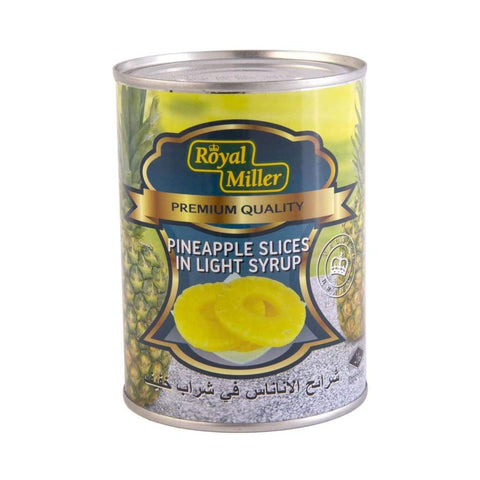 Pineapple Slice In Light Syrup Royal Miller (24X565G) Canned Fruits