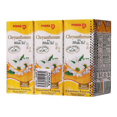 Pokka Chrysanthemum White Tea Tetra Pack 6X4X250Ml Juice Drink