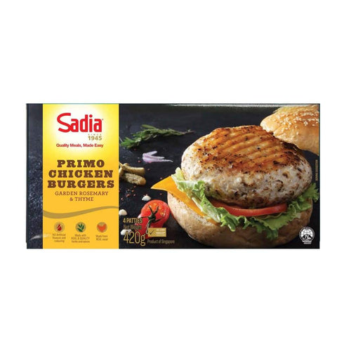 Primo Chicken Burgers Garden Rosemary & Thyme Sadia 420G Meat/seafood