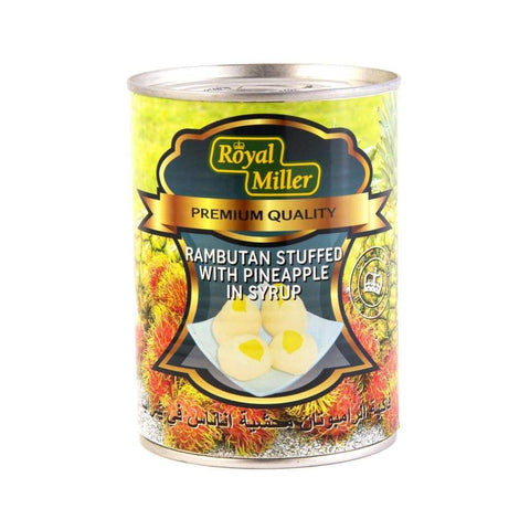 Rambutan With Pineapple In Syrup Royal Miller (24X565G) Canned Fruits