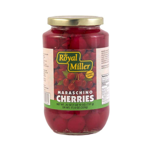 Red Cherries With Stem Royal Miller (12X735G) Canned Fruits
