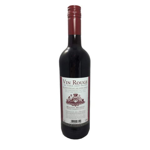 Red Cooking Wine 10% Vol 750Ml Meneau Vinegar &