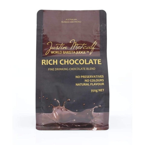 Rich Chocolate Powder - Justin Metcalf 350G Choco & Nutritional Drinks