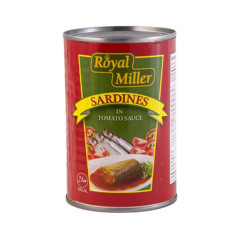 Sardines In Tomato Sauce Royal Miller 425G Canned Meat/seafood