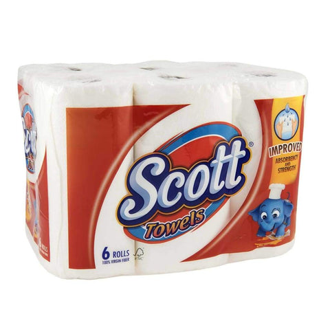 Scott Kitchen Towel - 4X(6 Rolls/bag) Non-Food