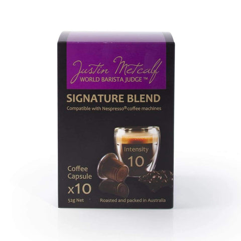 Signature Blend Capsules - Justin Metcalf 12X10S Coffee