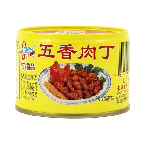 Spiced Pork Cube Gulong/narcissus 142G Canned Meat/seafood