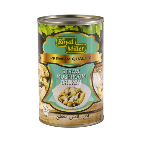 Straw Mushroom Broken Royal Miller 425G Canned