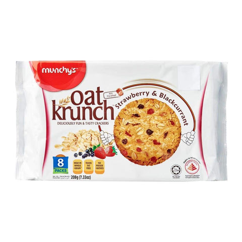 Strawberry & Blackcurrant 12X208G Oat Krunch Biscuits