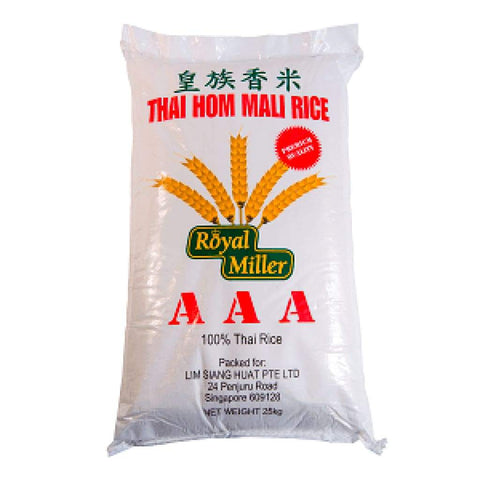 Thai Hom Mali Rice Royal Miller 25Kg