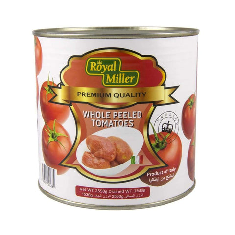 Tomato Whole Peeled Royal Miller 2.55Kg Canned Vegetable